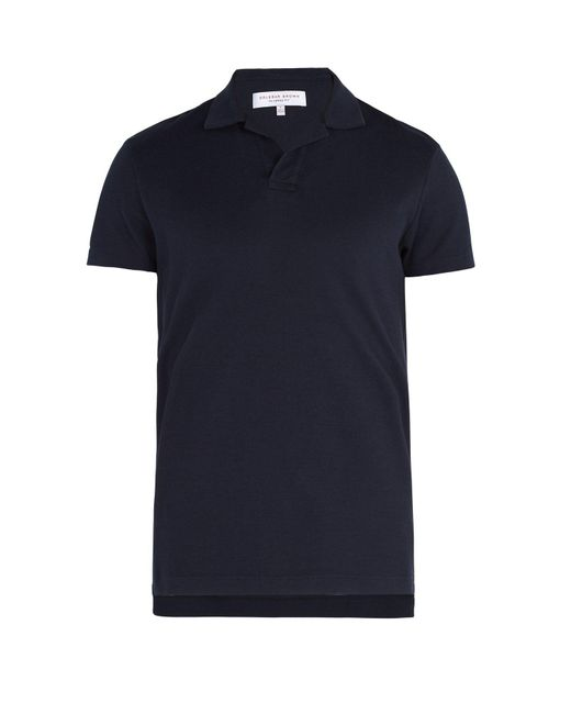 Orlebar Brown - Blue Felix Waffle-knit Cotton Polo Shirt for Men - Lyst