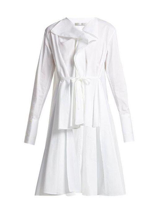 Ruffled V-neck cotton shirt Palmer//harding 28qfqf7ZA