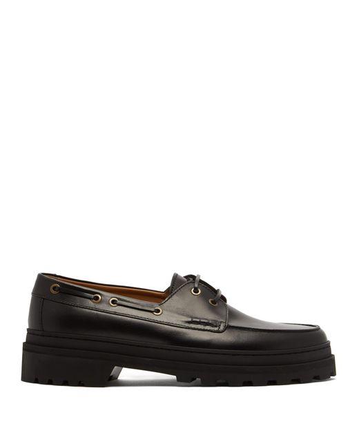 A.P.C. - Multicolor Chaussures bateau en cuir Vadim for Men - Lyst
