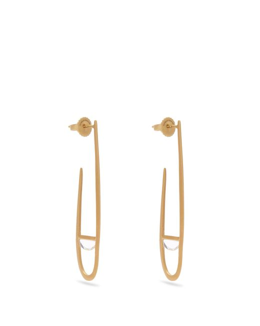 Monique Péan | Metallic Sapphire & Yellow-gold Earrings | Lyst