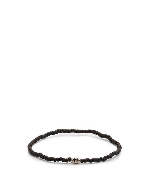 Luis Morais - Black Mini Barrel Beaded Bracelet for Men - Lyst