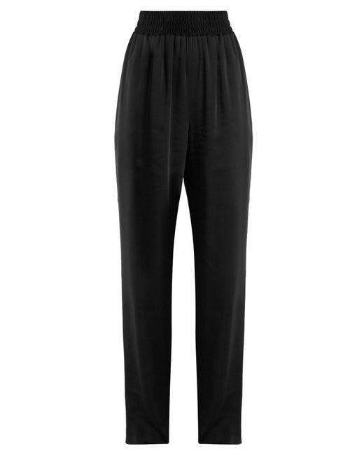 Balenciaga | Black Wide-leg Satin-twill Trousers | Lyst