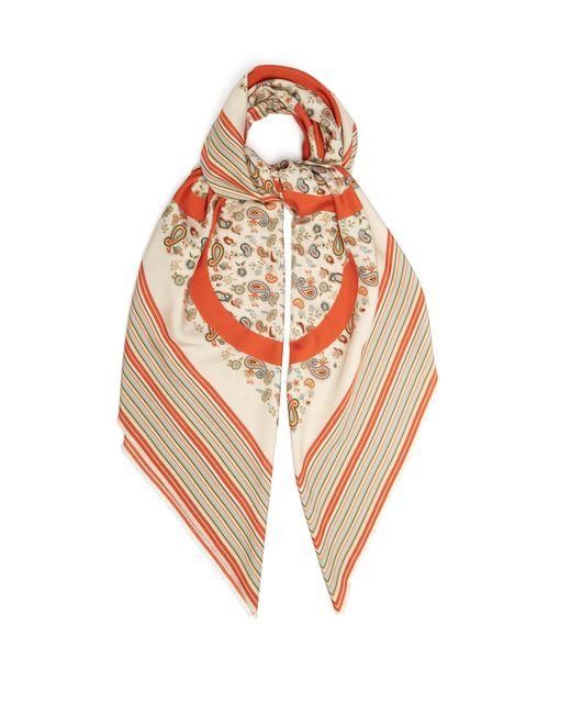 Loewe - Multicolor Anagram Logo Paisley Print Silk Scarf - Lyst