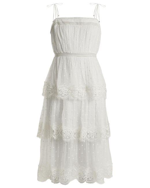 Zimmermann | Multicolor Meridian Circle-lace Silk Dress | Lyst