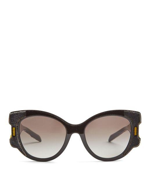 Prada - Multicolor Velvet Covered Cat Eye Sunglasses - Lyst