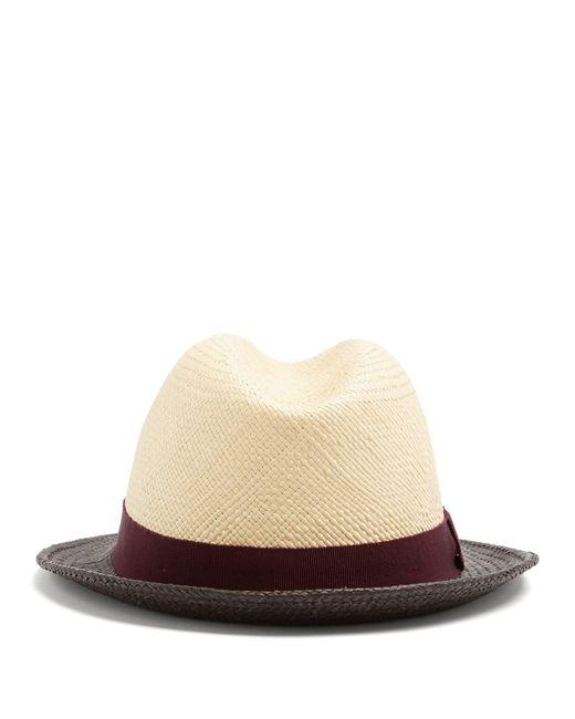 05bda6392c2 ... Prada - Natural Tri Colour Straw Hat for Men - Lyst ...