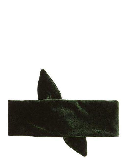 House of Lafayette Knotted-bow velvet headband pIWoH