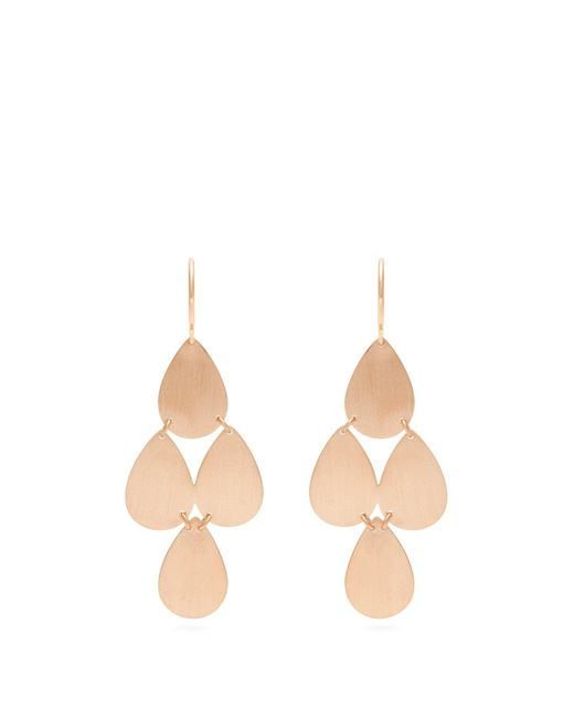 Irene Neuwirth | Metallic Rose-gold Chandelier Earrings | Lyst