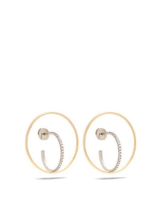 Charlotte Chesnais - Metallic Saturn Medium Diamond & Gold Earrings - Lyst