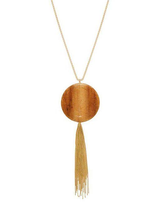 Rosantica By Michela Panero - Metallic Bamboo Pendant Tasselled Necklace - Lyst