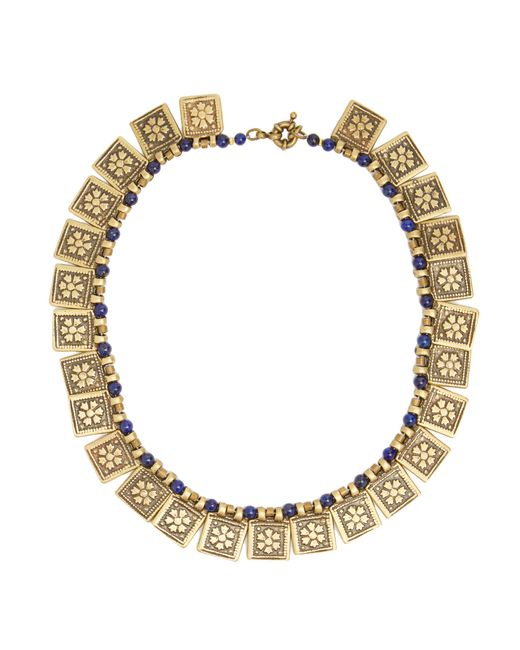 Etro   Metallic Floral-embossed Necklace   Lyst