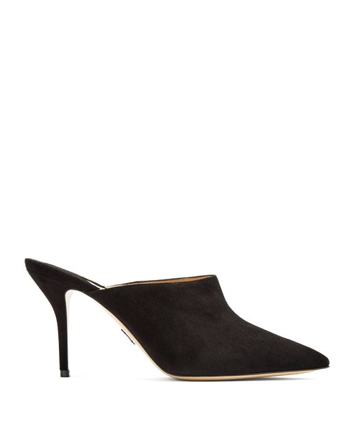 Paul Andrew | Black Certosa Point-toe Suede Mules | Lyst