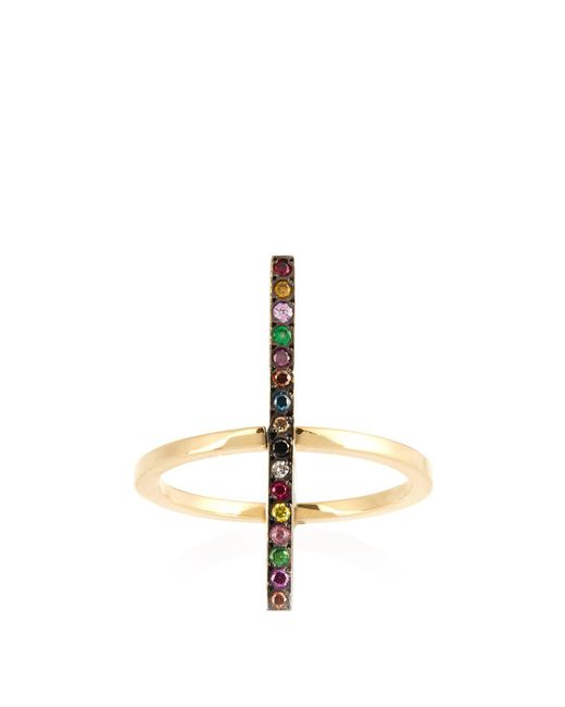 Ileana Makri - Metallic Rainbow Stones & Yellow-gold Ring - Lyst
