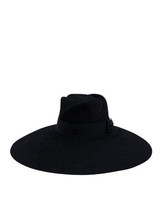 Gucci - Black Trilby Wide-brim Felt Hat - Lyst