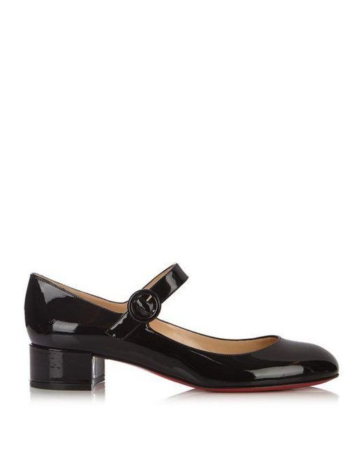 Christian Louboutin - Black Dolly Birdy 30 Patent-leather Pumps - Lyst