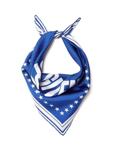 Givenchy - Blue Logo-print Silk-twill Scarf - Lyst