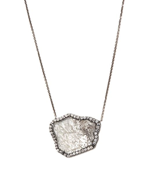 Susan Foster - Black Diamond Slice & White-gold Necklace - Lyst