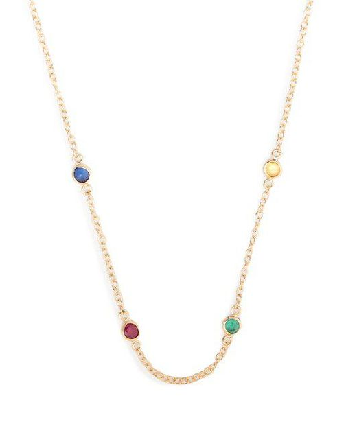 Alison Lou - Metallic Sapphire, Ruby, Emerald & Gold Twister Necklace - Lyst