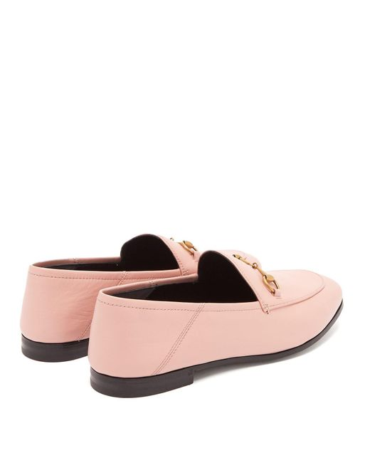 33bc46c4f08 ... Gucci - Pink Leather Horsebit Loafer - Lyst ...