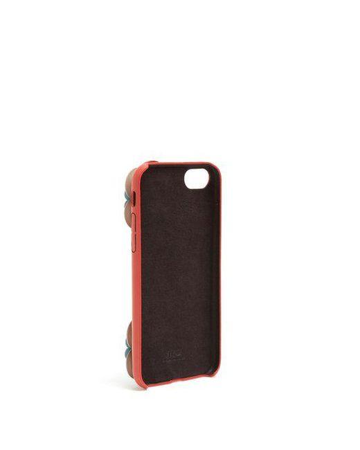 Flowerland-embellished leather iPhone 7 case Fendi ge2gFKmN