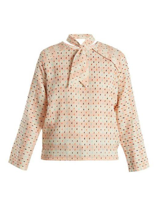 Page neck-tie cotton top Ace & Jig Clearance Official Site QDaKB