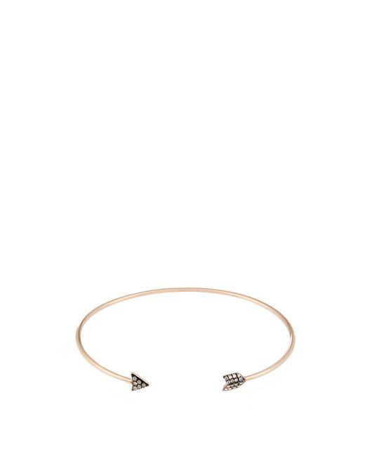 Diane Kordas   Metallic Diamond & Yellow-gold Arrow Cuff   Lyst