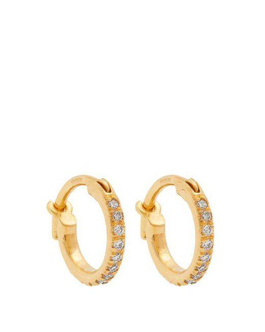 Ileana Makri - Metallic - Diamond & Yellow Gold Earrings - Womens - Yellow Gold - Lyst