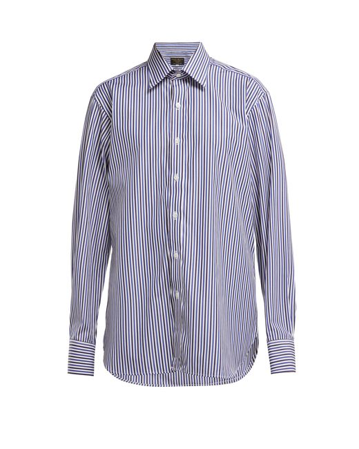 a9de33740e6 Emma Willis - Blue Bengal Striped Cotton Shirt - Lyst ...