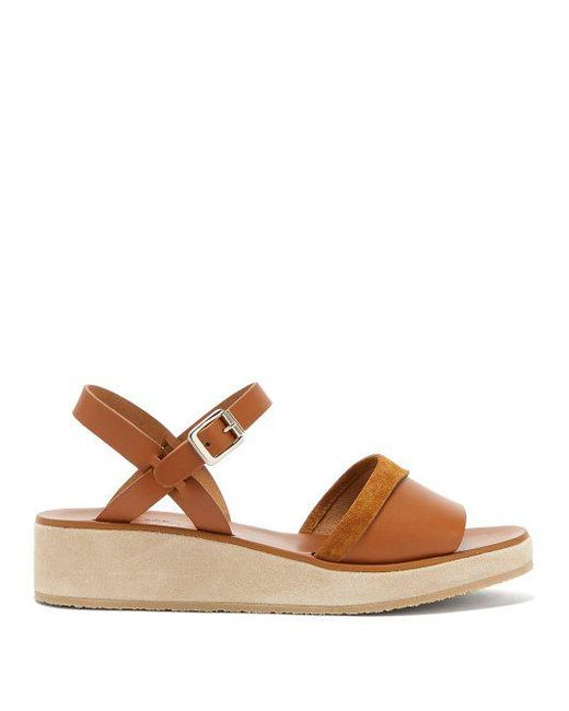 Outlet Pick A Best A.P.C Kelia leather & suede sandals Cheap Sale Best Sale Lowest Price Cheap Price gr2UvT