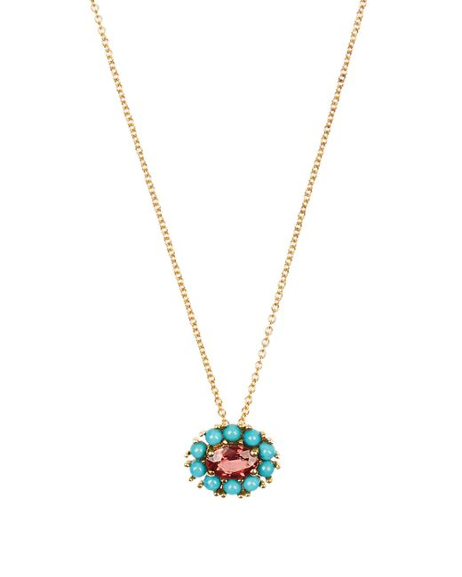 Ileana Makri | Multicolor Sapphire, Turquoise & Yellow-gold Necklace | Lyst