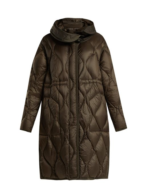 Moncler - Multicolor Manthus Wave Quilted Down Filled Coat - Lyst