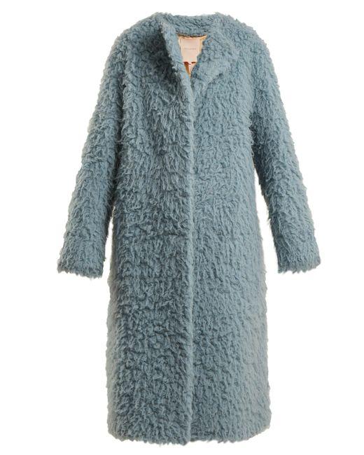 Roksanda - Blue Textured Camel Hair Coat - Lyst