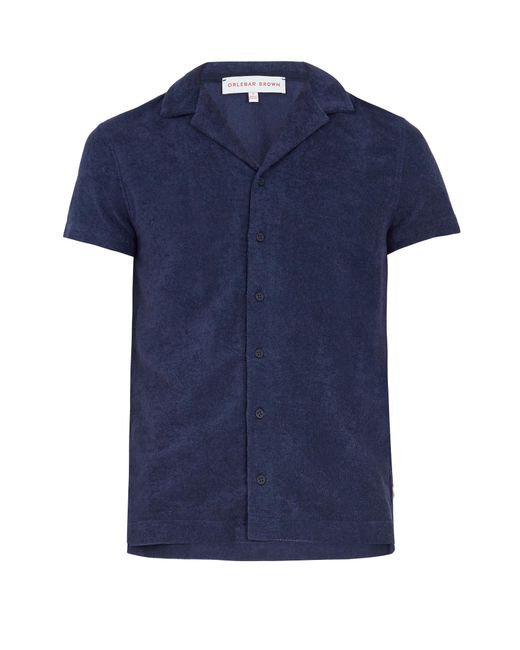 Orlebar Brown | Blue Travis French Terry-towelling Polo Shirt for Men | Lyst