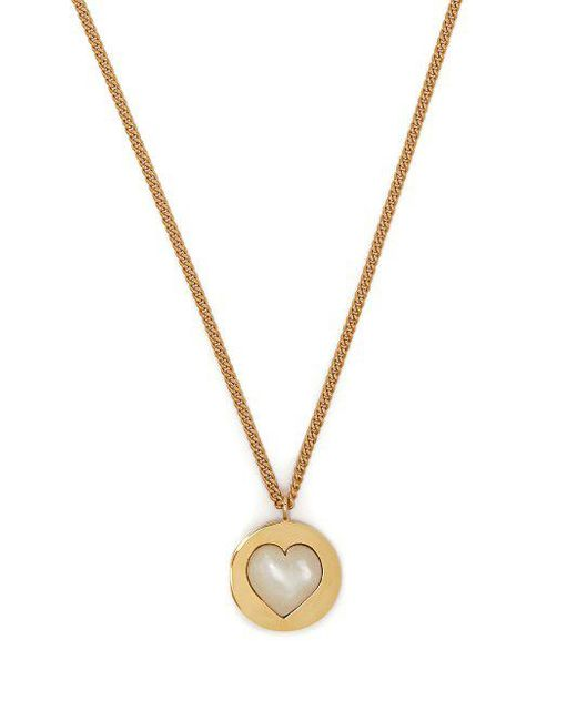 Theodora Warre - Metallic Heart Gold-plated And Pearl Necklace - Lyst