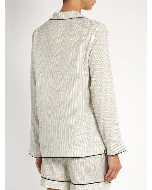 Cara pinstriped silk-satin pyjama shirt Morpho + Luna Cheap Sale Discount Buy Cheap Best Place Enjoy Sale Online Discount Low Price VPPJGDIoA