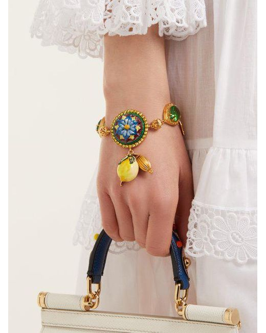 Floral and lemon-charm embellished bracelet Dolce & Gabbana Clearance Outlet Genuine Cheap Sale Ebay Discount Websites VgPLjJk