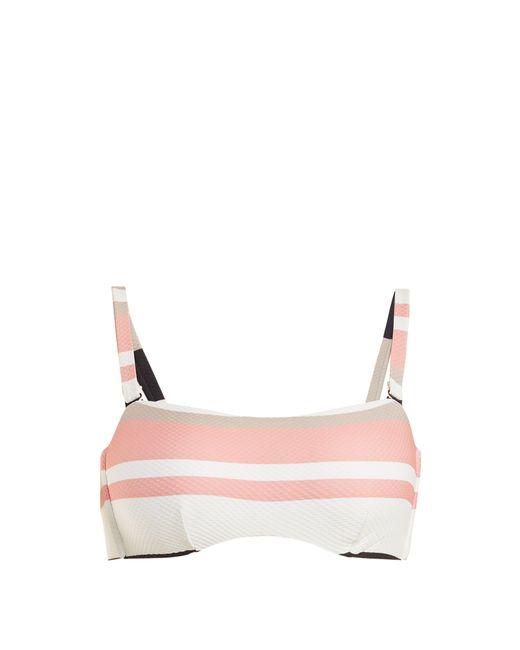Asceno - Multicolor Bandeau Striped Bikini Top - Lyst