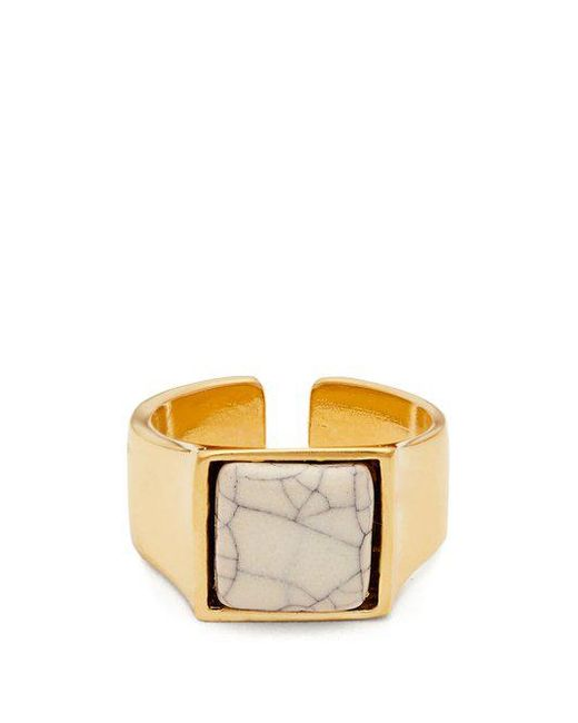 Isabel Marant - White Stone-embellished Ring - Lyst