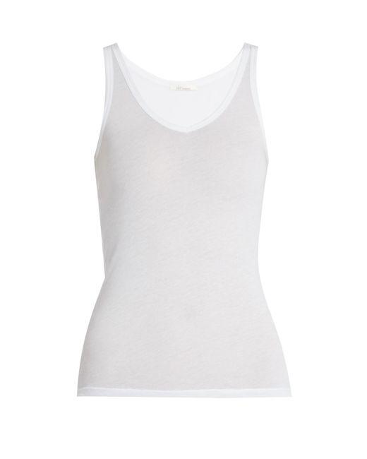 Skin - White Scoop-neck Cotton Pyjama Tank Top - Lyst