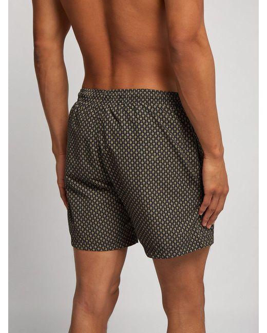 b1d8114c5b ... Alexander McQueen - Black Skull Printed Swim Shorts for Men - Lyst ...