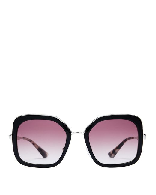Prada - Black Oversized Square Frame Acetate Sunglasses - Lyst