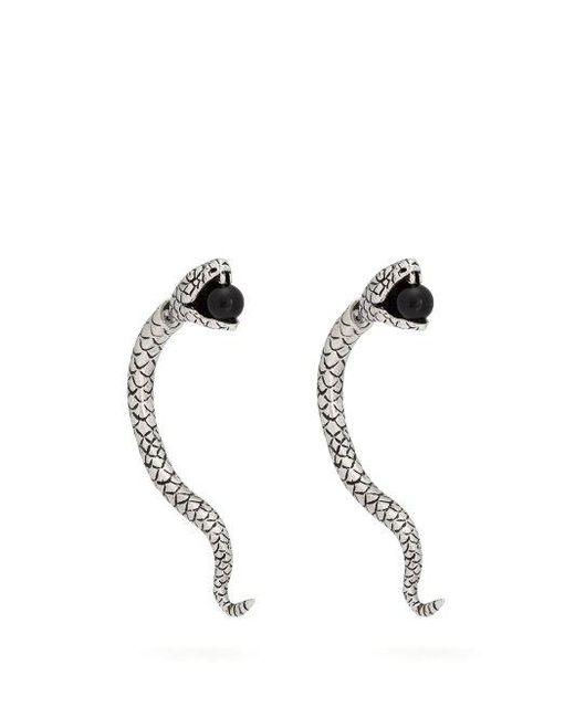 Serpent Avec Boucles D'oreilles Perles Saint Laurent z1DWX1