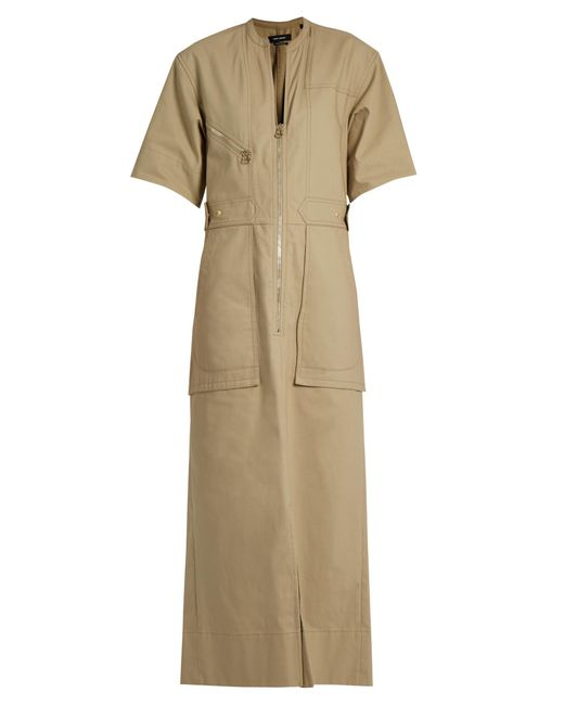 Isabel Marant | Natural Toby Cotton-twill Maxi Dress | Lyst