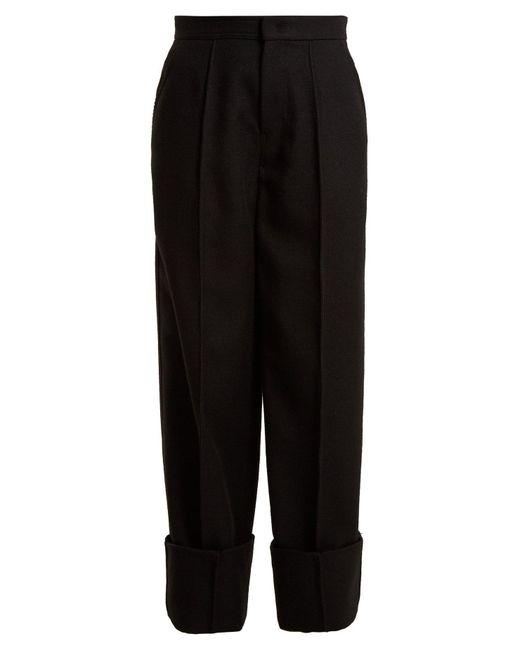 Joseph - Black Brem Wide-leg Wool-twill Trousers - Lyst