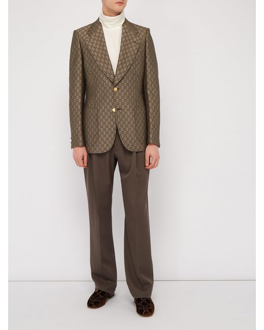 63ecbc73c ... Gucci - Natural Gg Monogram Single Breasted Suit Jacket for Men - Lyst  ...