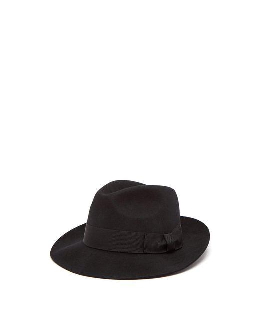 Paul Smith - Black Mayfair Wool Fedora Hat for Men - Lyst