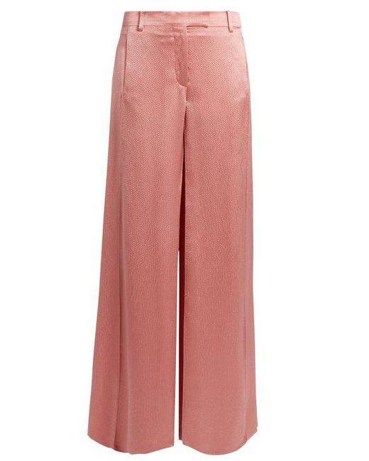 Hammered-satin wide-leg trousers Valentino Pick A Best 69P1Xj4zjb