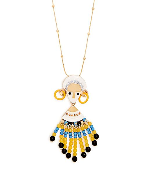 Etro | Yellow Bead And Crystal-embellished Necklace | Lyst