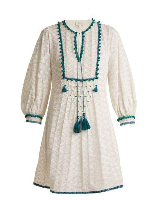 Talitha - Multicolor Ilaria Tassel-embellished Silk-blend Dress - Lyst