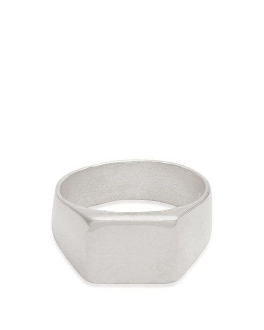 Aris Schwabe - Metallic Thick Platte Sterling-silver Ring for Men - Lyst